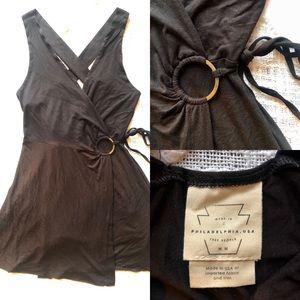 Free people mini wrap dress